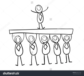 stock-photo-hand-line-drawing-cartoon-stick-figures-management-support-boss-stability-team-299131703